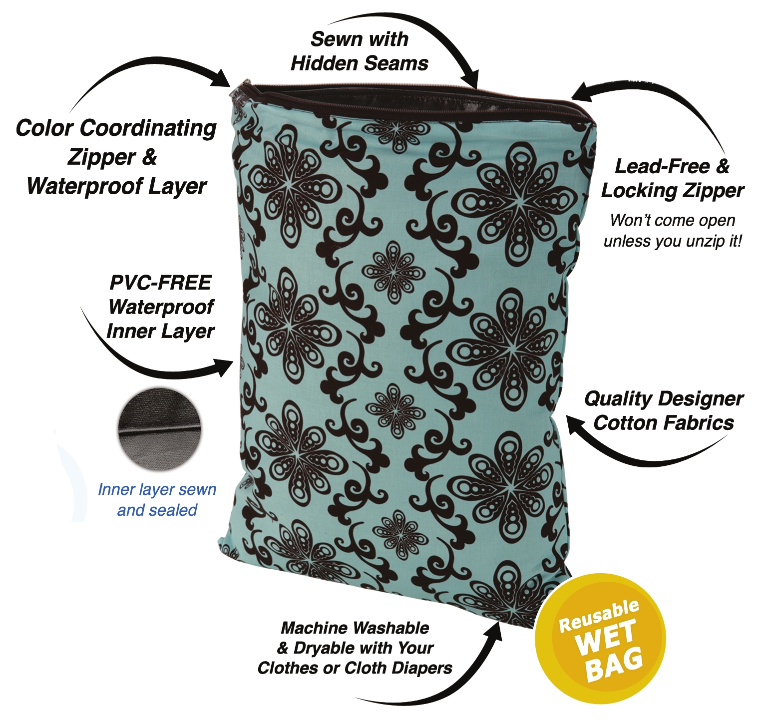 Planet Wise Wet Bags Large 18 X 21