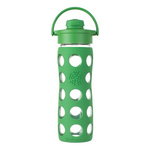 Life Factory 16oz Glass Bottle w/Flip Cap & Sillicone Sleeve