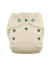 Natural Newborn Fitted Cloth Diaper by Thirsties Fin
