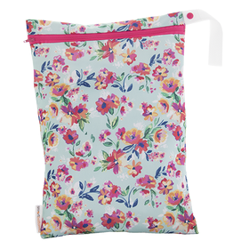On the Go Wet bags by Smart Bottoms Aqua Floral